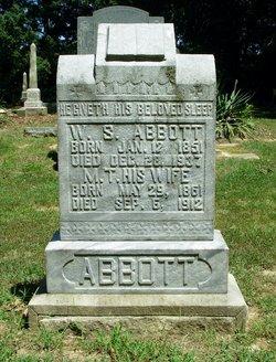 """Martha Thomas """"Mattie"""" <I>Davidson</I> Abbott"""