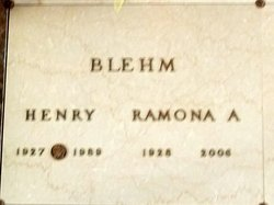 "Ramona Ann ""Nancy"" <I>Terrian</I> Blehm"