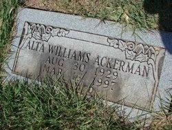 Alta Lou <I>Neff</I> Ackerman