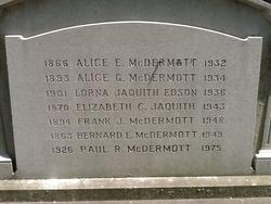 Bernard E McDermott