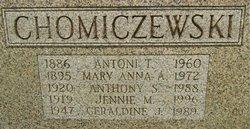 Jennie M. <I>Sadowniczak</I> Chomiczewski