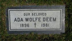 Ada <I>Wolfe</I> Deem