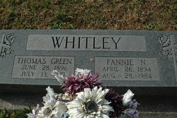 """Thomas Green """"Tommy"""" Whitley"""