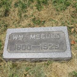 William J McCord