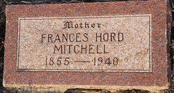 "Emily Frances ""Fanny"" <I>Hord</I> Mitchell"