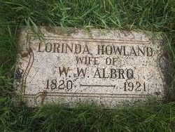 Lorinda <I>Howland</I> Albro
