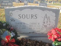 Carrie Madeline <I>Mayes</I> Sours