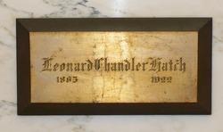 Leonard Chandler Hatch