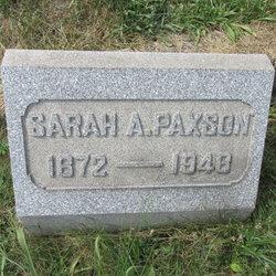 "Sarah Ann ""Sallie"" <I>Devault</I> Paxson"