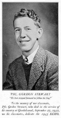 Pvt Gordon R Stewart