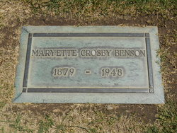 Maryette <I>Crosby</I> Benson