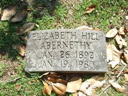 Elizabeth Bulloch <I>Hill</I> Abernethy