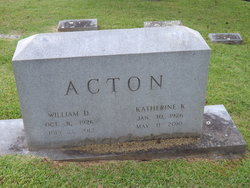 Mary Katherine <I>Klyman</I> Acton