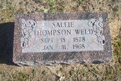 Sallie <I>Thompson</I> Weld