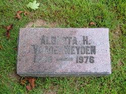 Alberta H. VanderWeyden