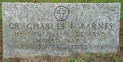 Dr Charles F. Barnes