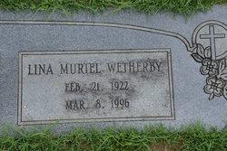 "Lina Muriel ""Muriel"" <I>Jennings</I> Wetherby"