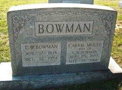 Carrie <I>McGee</I> Bowman