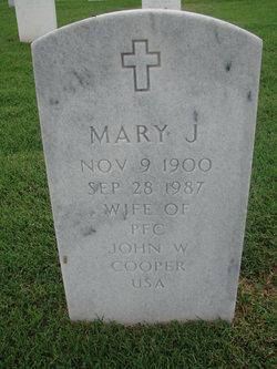 Mary J Cooper