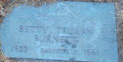 Betty J <I>Truman</I> Burnett
