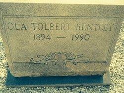 Ola <I>Tolbert</I> Bentley
