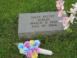 Sally <I>Pettey</I> Acklin