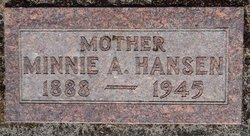 Minnie A Hansen