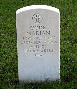 Code Marian <I>Casady</I> Akers