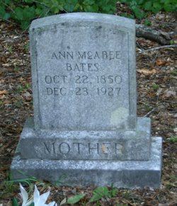 Ann <I>McAbee</I> Bates