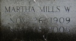 Martha Mills <I>Waterfill</I> Mercke