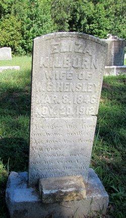 """Eliza Jane """"Liza J"""" <I>Kilburn</I> Hensley"""
