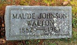 Maude Eliza <I>Johnson</I> Walton