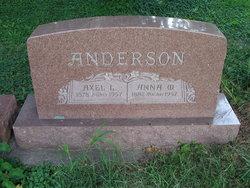 Anna Wilhemina <I>Erickson</I> Anderson