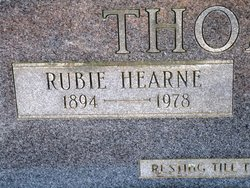 Ruby Charlotte <I>Hearne</I> Thompson