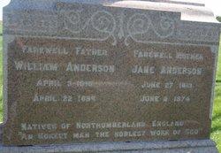 Jane <I>Hall</I> Anderson