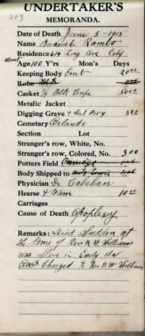 Mariah Rambo (1815-1915) - Find A Grave Memorial