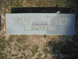 Esther <I>Wood</I> Dupre