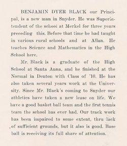 Benjamin Dyer Black