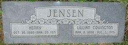 Lillian Adelia <I>Covington</I> Jensen