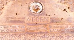 Daisy Esther <I>Clayton</I> Allen