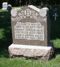 "Elizabeth ""Betsey"" <I>Wiltse</I> Blair"