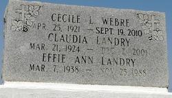 Cecile <I>Landry</I> Webre