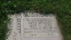 Mary Ethel <I>Shakespeare</I> Monson