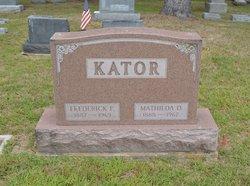 Frederick W, Kator