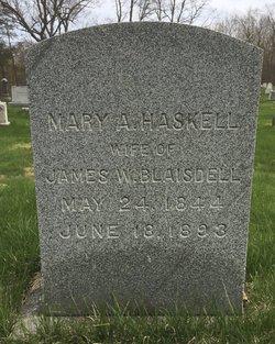 Mary A. <I>Haskell</I> Blaisdell