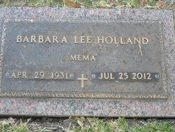 "Barbara Lee ""Mema"" <I>Woods</I> Holland"