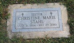 Sr Christine Marie Stahl