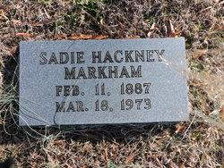 Sadie <I>Hackney</I> Markham