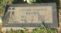 Lavonia <I>Cameron</I> Brown