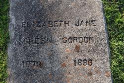 Elizabeth Jane <I>Green</I> Gordon